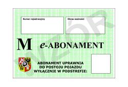 Abonament typu M na podstrefę VIII za jeden miesiąc lub jego wielokrotność - trzeci pojazd